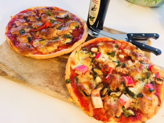 Pizza zeevruchten & chorizo
