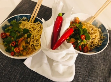 Pittige Thaise curry met kip & noedels 2