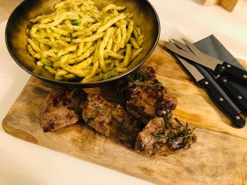steak alla fiorentina & pasta genovese